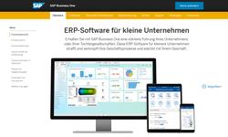 SAP Business One Webseite - Vorschaubild